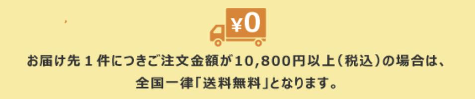 10,800円で送料無料
